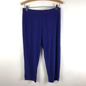 Clara Sun Woo Pull On Stretch Capri Crop Pants